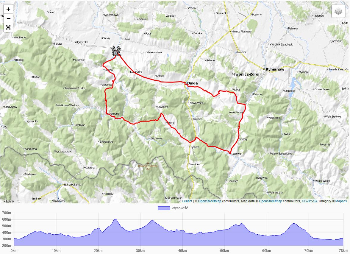 podkarpackie mapa 78km 1